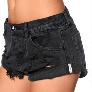 One Teaspoon x Free People Button Fly Bandit Short